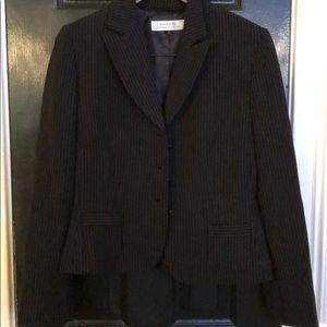 Black pin strip blazer by Tahari size 10